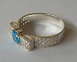 Кольцо КЕ458МД, серебро 925 проба, кубический цирконий., фото 2