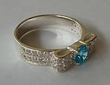 Кольцо КЕ458МД, серебро 925 проба, кубический цирконий., фото 4