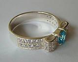 Кольцо КЕ458МД, серебро 925 проба, кубический цирконий., фото 5
