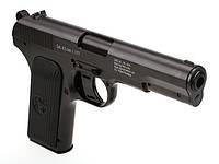 Пневматический пистолет Gletcher TT, 18 пуль 4,5мм, 125м/с, Double Action, подвижный затор, 0,6кг
