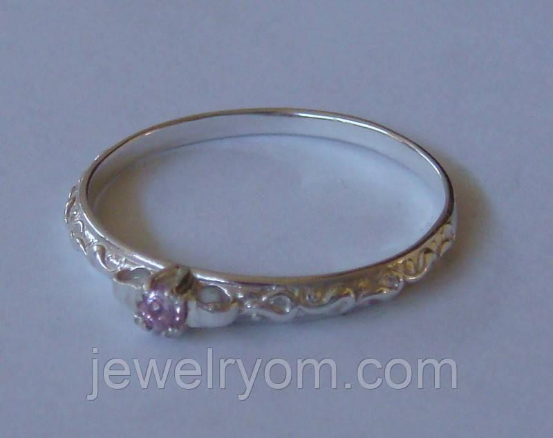Кольцо КБ0506Мд, серебро 925 проба, кубический цирконий.