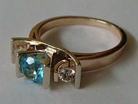 Кольцо КБ331МД, золото 585 проба, топазы.