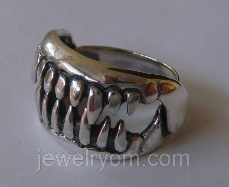 Кольцо К7530ММ, серебро 925 проба, чернение.