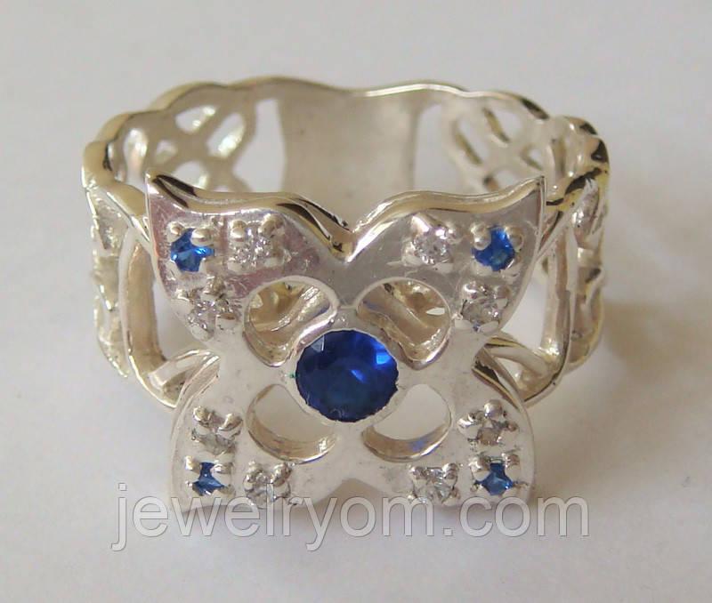 Кольцо К6210ММ, серебро 925 проба, кубический цирконий, распродажа.