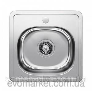 Кухонная мойка Platinum из нержавейки, декор 38х38