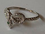 Кольцо К5160ММ, серебро 925 проба, кубический цирконий., фото 5
