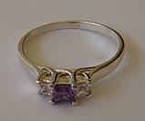 Кольцо 200830ЮМ, серебро 925 проба, кубический цирконий., фото 4