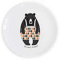"""Сувенирная тарелка """"Сонный мишка"""""""