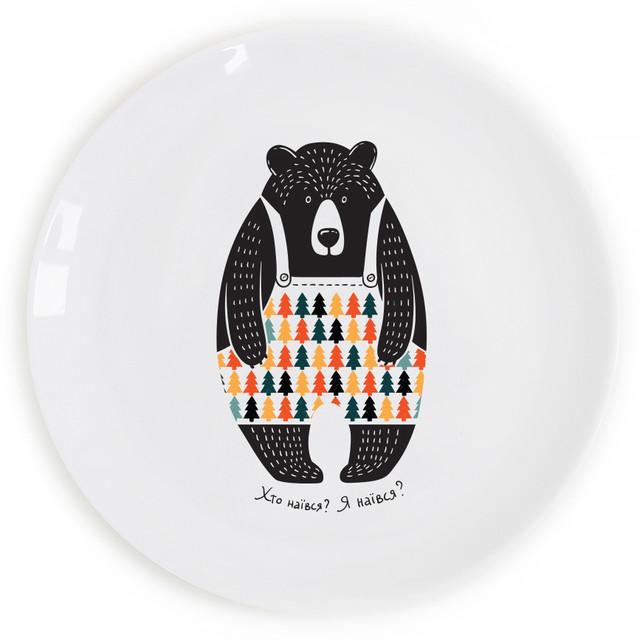 дизайнерская тарелка Сонный мишка!
