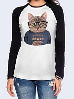 Лонгслив-реглан Cat Chicago Bears