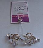 Серьги 100155ЮМ, серебро 925 проба, кубический цирконий., фото 2