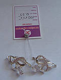 Серьги 100155ЮМ, серебро 925 проба, кубический цирконий., фото 3