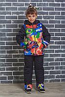 "Детский костюм на синтепоне ""Флаг""зимний детский костюм , фото 1"
