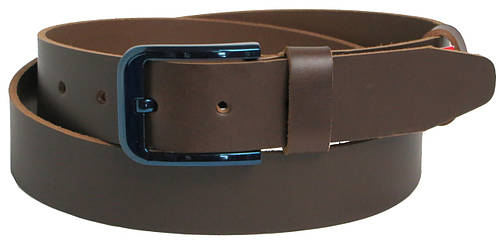Мужской кожаный джинсовый ремень Skipper 9972 коричневый ДхШ: 131х4 см.