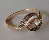 Кольцо К00582М, золото 585 проба, кубический цирконий., фото 4