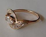 Кольцо К00582М, золото 585 проба, кубический цирконий., фото 5
