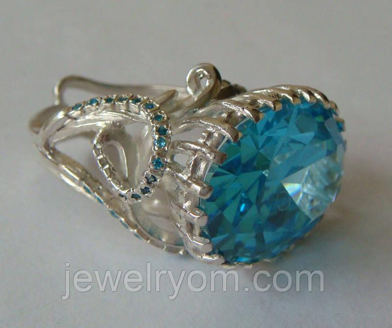 Кольцо женское EXV, серебро 925 проба, кубический цирконий.