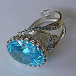 Кольцо женское EXV, серебро 925 проба, кубический цирконий., фото 2