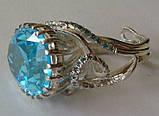 Кольцо женское EXV, серебро 925 проба, кубический цирконий., фото 3