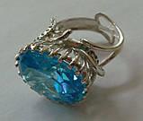 Кольцо женское EXV, серебро 925 проба, кубический цирконий., фото 5