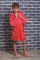Детский махровый халат на запах коралл, фото 1