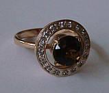 Кольцо женское 100890ЮМ, золото 585 проба, топазы., фото 2