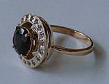 Кольцо женское 100890ЮМ, золото 585 проба, топазы., фото 3