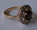 Кольцо женское 100890ЮМ, золото 585 проба, топазы., фото 4