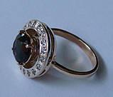Кольцо женское 100890ЮМ, золото 585 проба, топазы., фото 5