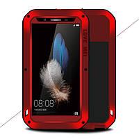 Чехол противоударный Love Mei Gorilla Glass для Huawei Enjoy 5S GR3 красный