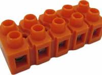 Терминал масло-термостойкий 10 клемм оранжевый