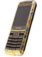 Мобильный телефон Vertu Hermes C19 Gold 2 Sim Bluetooth Mp3 Mp4