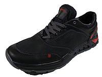 Мужские кожаные кроссовки Merrell черного цвета