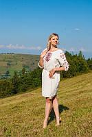 Женское вышитое платье «Easy traditoins» (белое), фото 1