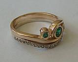 Кольцо 210700ЮМз, золото 585 проба, кубический цирконий., фото 2