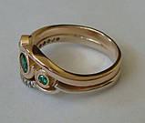 Кольцо 210700ЮМз, золото 585 проба, кубический цирконий., фото 3