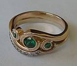 Кольцо 210700ЮМз, золото 585 проба, кубический цирконий., фото 4