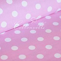 ✁ Отрезы хлопковой ткани горохи на розовом