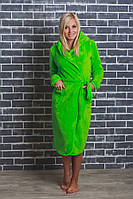 Женский махровый халат на запах