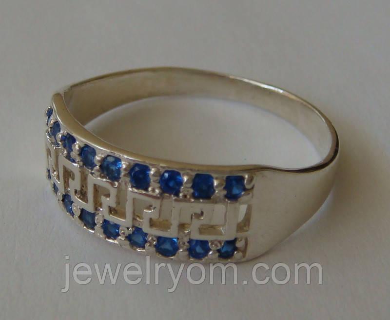 Кольцо 102550ЮМ, серебро 925 проба, кубический цирконий.