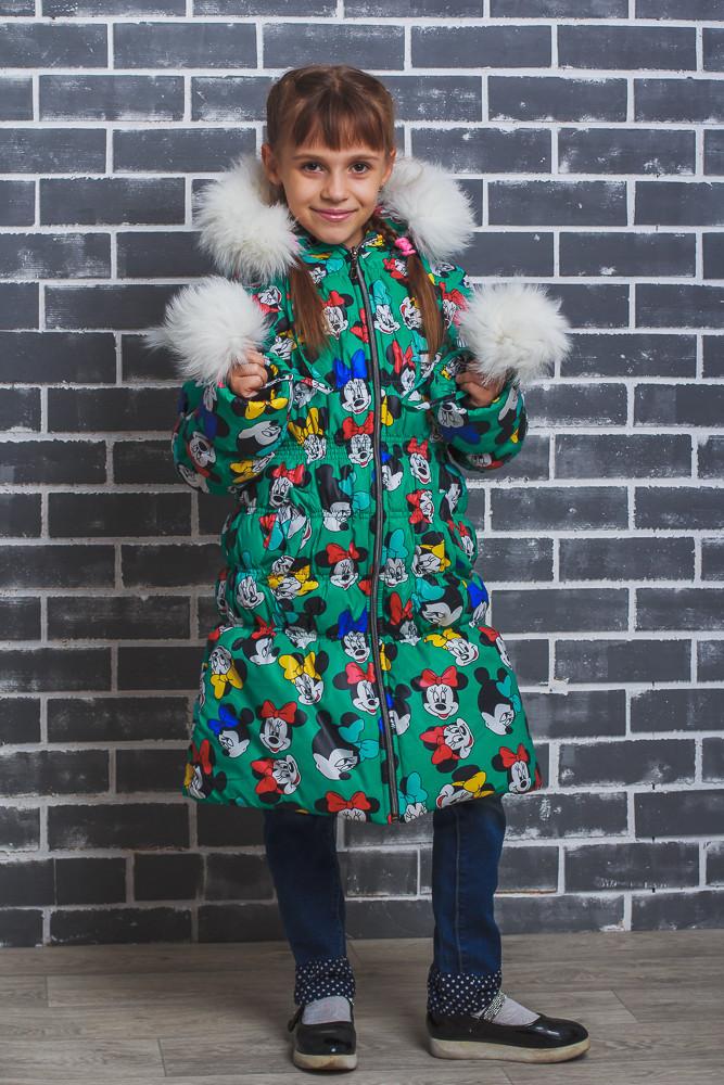 "Пальто зимнее для девочки ""Микки"""