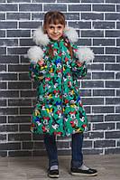 "Пальто зимнее для девочки ""Микки"", фото 1"