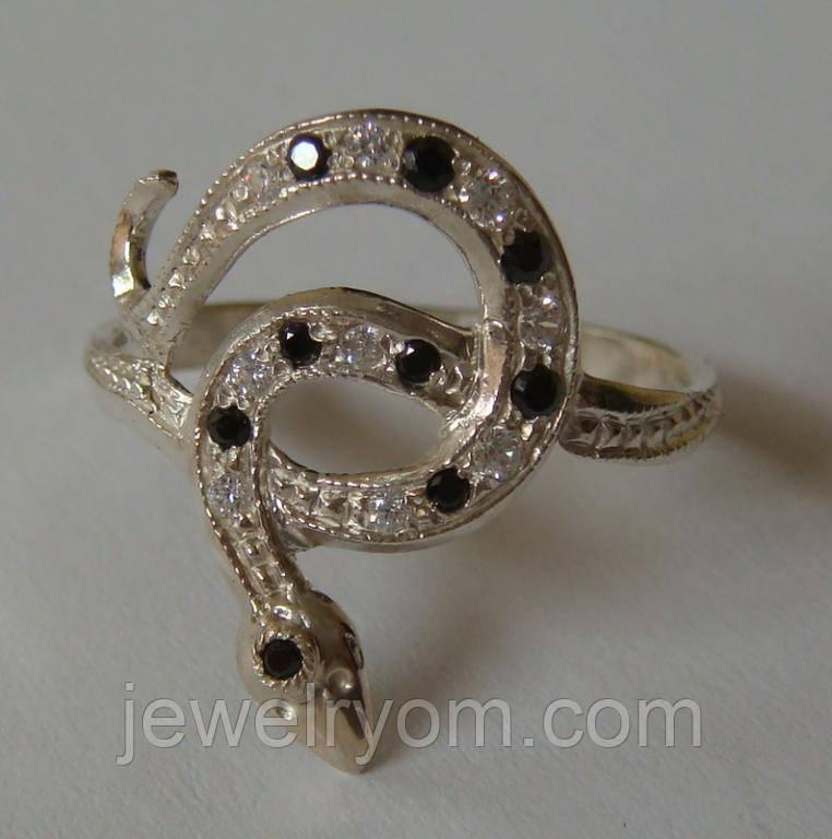 Кольцо 102050ЮМ, серебро 925 проба, кубический цирконий.