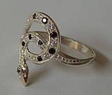 Кольцо 102050ЮМ, серебро 925 проба, кубический цирконий., фото 3