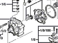 Головка  блока цилиндра до мойки високого давления BOSCH AQUATAK 110