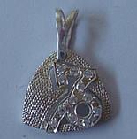 "Подвес ""Козерог"" П0600М, серебро 925 проба, кубический цирконий., фото 3"