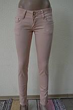 Цветные женские брюки бежевый 8021-03