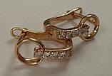 Серьги СЦ273МД, золото 585 проба, кубический цирконий., фото 3