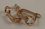 Серьги СЦ273МД, золото 585 проба, кубический цирконий., фото 4