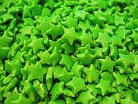 Посыпка зеленые звездочки 50 грамм